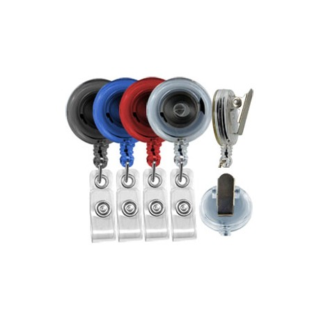Clip-on Translucent Badge Reel with Vinyl Strap