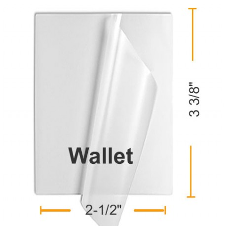 7 MIL Wallet Laminating Pouches