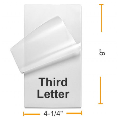 Third Letter Laminating Pouches
