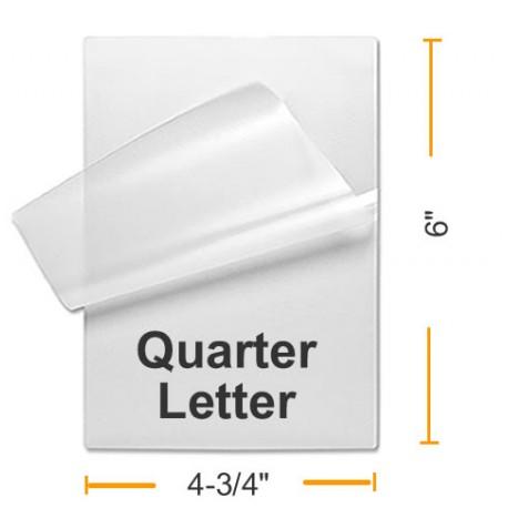 BULK 1/4 Letter Laminating Pouches