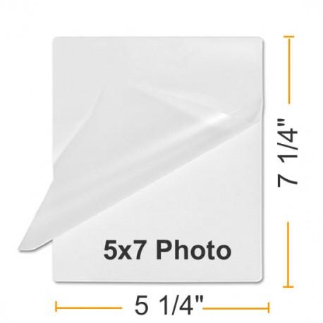 """5 1/4"""" x 7 1/4"""" Photo Card 5 x 7 Laminating Pouches"""