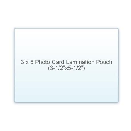 """3 1/2"""" x 5 1/2"""" Photo Card 3 x 5 Laminating Pouches"""