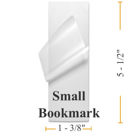 "BULK Small Bookmark Laminating 1-3/8""x5-1/2"" *1000 Pouches"