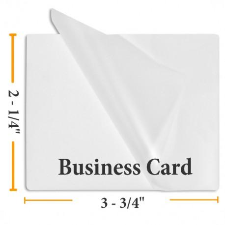 "2 1/4"" x 3 3/4"" Matte/Matte Business Card Laminating Pouches"