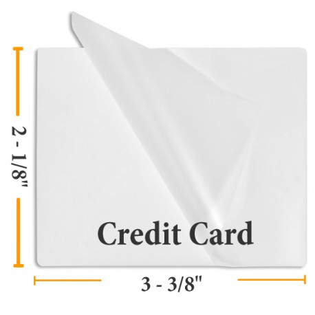 Sticky Back Credit Card Size Laminating Pouches - 5 Mil