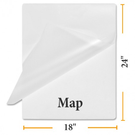 """3 MIL 18"""" x 24"""" Map Laminating Pouches"""