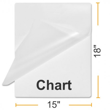 """3 MIL 15"""" x 18"""" Chart Laminating Pouches"""