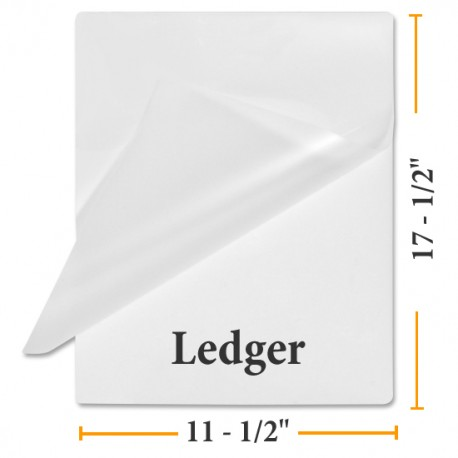 Ledger Size Laminating Pouches