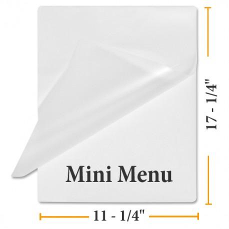 """3 MIL 11 1/2"""" x 17 1/2"""" Mini Menu Size Laminating Pouches"""