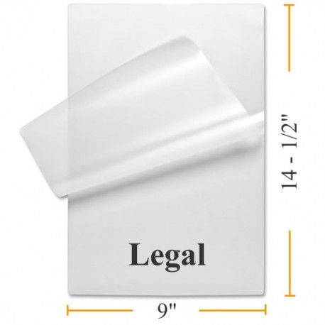 Legal Size Laminating Pouches