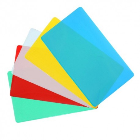 "Colored Back 10 MIL 2 5/16"" x 3 1/4"" DATA CARD Pouches"