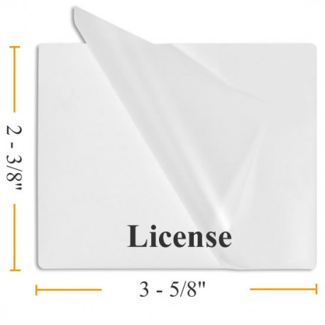 "BULK Drivers License Laminating Pouches - 1000 2 3/8"" x 3 5/8"""