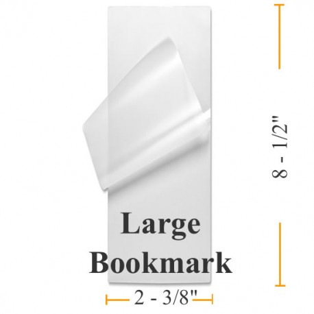 """5 MIL 2 3/8"""" x 8 1/2"""" Large Bookmark Laminating Pouches"""