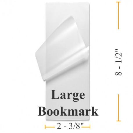 "BULK Large Bookmark Laminating Pouches - 1000 2-3/8""x8-1/2"""