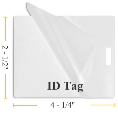 Vertical ID Tag (with slot) Laminating Pouches