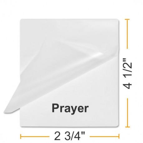 """BULK 2 3/4"""" x 4 1/2"""" Prayer Card *1000 Pouches"""