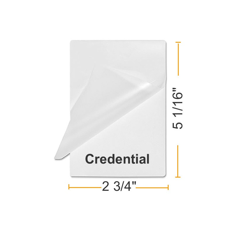 Credentail Size Laminating Pouches Buy Lamination