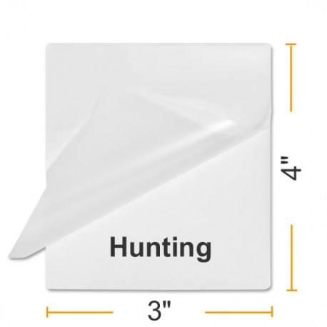 """4 1/8"""" x 2 15/16"""" Fishing & Hunting Size Laminating Pouches"""