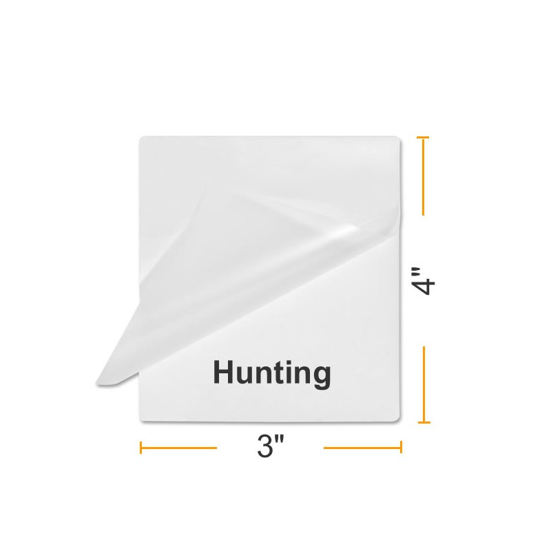 100 Fishing//Hunting Size Laminating pouches  7 mil.