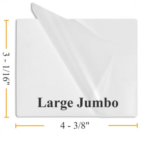 "7 MIL 3 1/16"" x 4 31/8"" Large Jumbo Laminating Pouches"