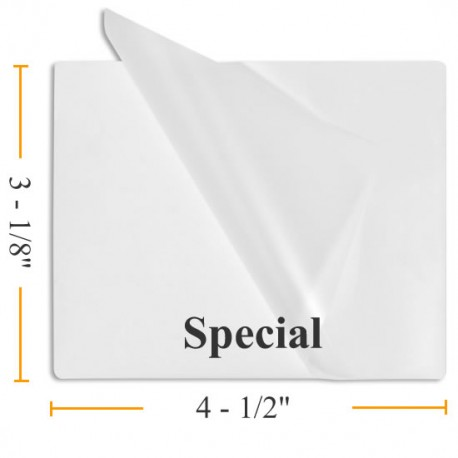 """3 1/8"""" x 4 1/2"""" Special Laminating Pouches"""