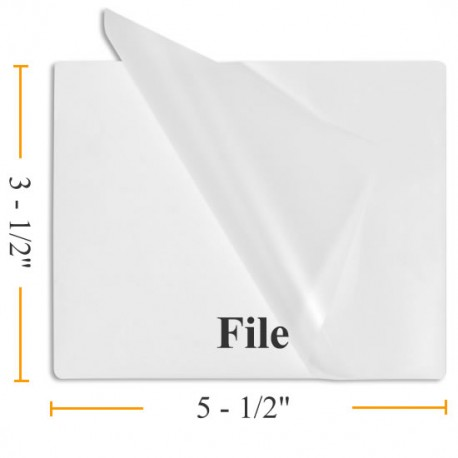 """7MIL 3 1/2"""" x 5 1/2"""" File Card Laminating Pouches"""