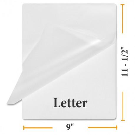 Sticky Back Letter Size Lamination Pouches