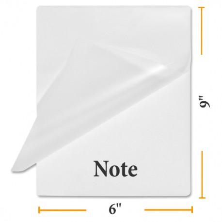 BULK Note Size Laminating Pouches - Case of 1000 Pouches!