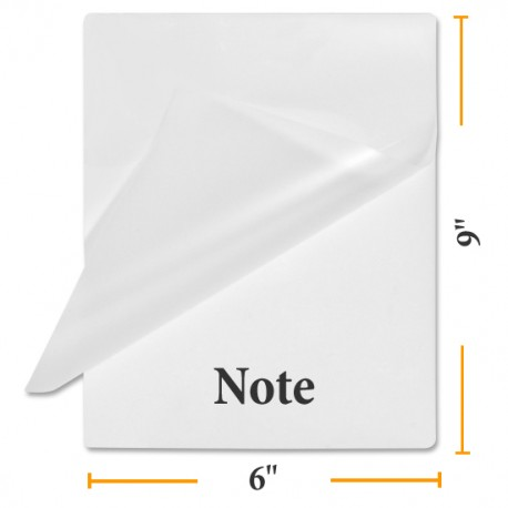 "6""x 9"" Note OBT Size Laminating Pouches"