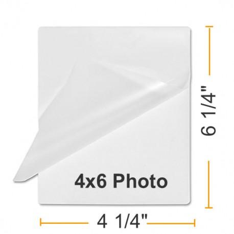 """4 1/4"""" x 6 1/4"""" Photo Card 4 x 6 Laminating Pouches"""
