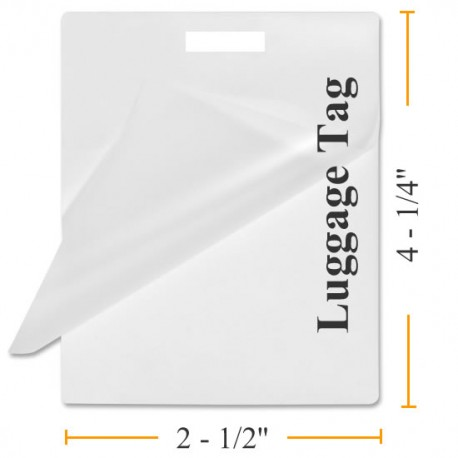 "5 MIL 4 1/4"" x 2 1/2"" Luggage Tag w/ Slot Laminating Pouches"