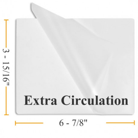 "3 15/16"" x 6 7/8"" Extra Circulation Laminating Pouches"
