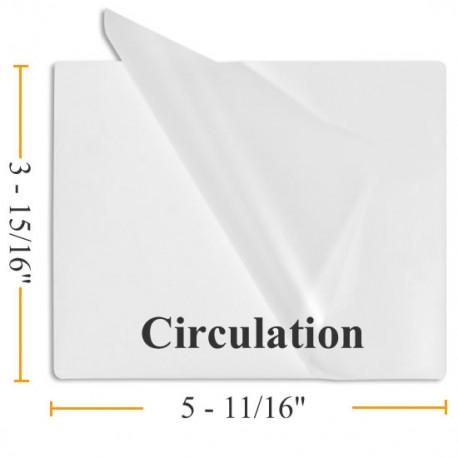 "3 15/16"" x 5 11/16"" Circulation Laminating Pouches"