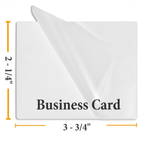 """3 MIL 2 1/4"""" x 3 3/4"""" Business Card Laminating Pouches"""