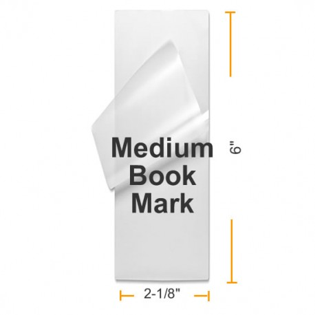 """5 MIL 2 1/8"""" x 6"""" Medium Bookmark Laminating Pouches"""