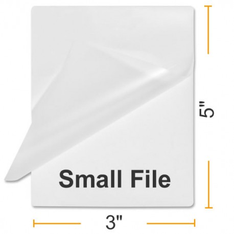 """5MIL 3"""" x 5"""" File Card Laminating Pouches"""